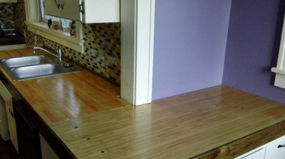 DIY custom bowling lane countertops