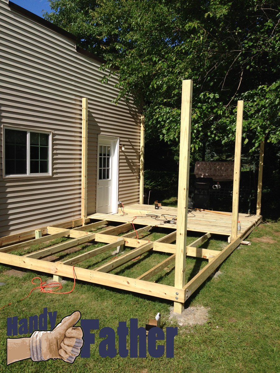 Diy deck building plans pictures to pin on pinterest for How do you build a deck yourself