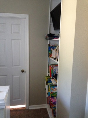 Turn alcove into built-tin shelves