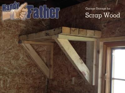Simple garage storage for scrap wood